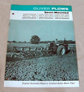 Vintage Oliver Corporation No. 575/566/565 Plow Advertising Brochure-Ca 1969!
