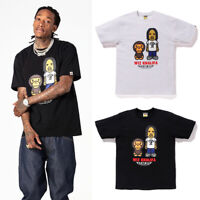 * (S-XXL) A BATHING APE Men's x WIZ KHALIFA TEE 2colors From Japan New