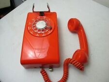 Vintage Stromberg Orange Wall Phone Complete Used ( Untested)