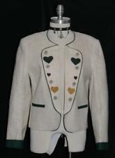 BEIGE ~ COTTON LINEN German Women SUMMER Sport Riding Dress Suit JACKET 38 10 M