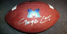 LLOYD CARR MICHIGAN WOLVERINES SIGNED OFFICIAL WILSON GAME FOOTBALL w/ COA
