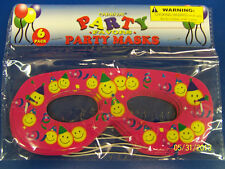 Happy Birthday Carnival Party Favor Masquerade Paper Eye Masks - Smiley Faces