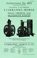 Fairbanks Morse Vertical Jack of All Trades Gas Engine Book Manual 2-12hp 2072
