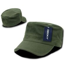 Olive Green Military Cadet Flat Top Flex Cap Caps Hat Hats One Size Fits Most