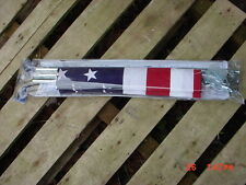 3' x 5' Deluxe Usa Flag w/6' Pole Kit Wall or Porch Mount Made in U.S.A.