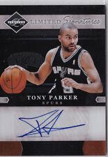 Tony Parker Spurs Panini Limited Signatures Auto Autograph 11/25