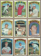 1972 72 Topps YOU PICK SINGLES FROM #1-787 ALL HIGH GRADE NEAR MINT OR BETTER