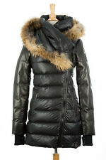 100% AUTHENTIC Rudsak Roya Down Fur Puffer Coat Women Black Size XS