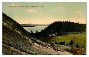 View from Roses Farm, Newfound Lake, NH Postcard *6V(3)32