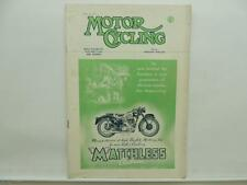 April 1950 Motorcycling Magazine Matchless Clubman Ariel Red Hunter L8544