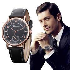 Latest Men's Watch Stainless Steel Leather Quartz Analog Sport Boy Wrist Watch