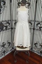 S207 TIP TOP 5286.22 SZ 8 IVORY $200 FLOWER GIRL FLOWERGIRL COMMUNION DRESS GOWN