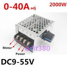 DC 40A 12V 24V 48V Motor Adjustable Speed Controller Control Amps Switch Driver