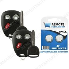 Replacement for Buick Rainier Chevy Trailblazer GMC Envoy Remote Key Fob Pair