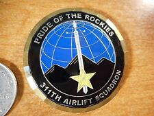 311th Airlift Squadron Tip Tank ASSOC Pride Of The Rockies USAF Challenge Coin