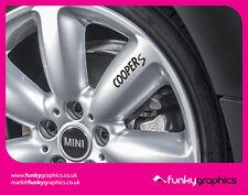 Mini Cooper S Logotipo Adhesivos Calcomanías de Rueda de Aleación gráficos x5 Vinilo Negro