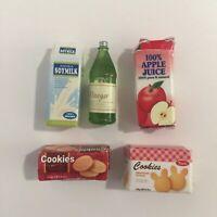Sylvanian Families Calico Critters Supermarket Replacement Cookies Juice Milk