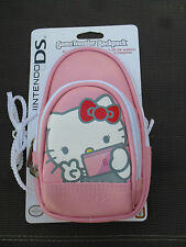 Nintendo DSi DS Lite Hello Kitty Pink Padded Carry Case Backpack Travel Bag  New