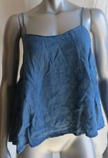 Womens BDG Denim Blue Spaghetti Strap Shirt Size L