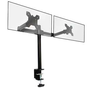 Fully Adjustable Double Monitor Bracket Dual Arm Desk Stand M&W