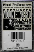 Beethoven Violin Concerto, Isaac Stern, Bernstein, New York Phil... NEW Cassette