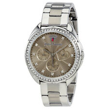 Juicy Couture Capri Multi-Function Silver Dial Ladies Watch 1901478