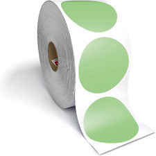 2 Circle Direct Thermal Perforated Stickers Labels For Barcodes Address Small
