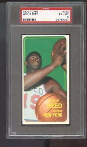 1970-71 Topps #150 Willis Reed PSA 6 Graded Basketball Card 1970 New York Knicks