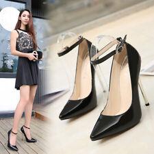 13cm High Heels Drag Queen Club Shoes Womens Mens Stilettio Ankle Strap Pumps Sz