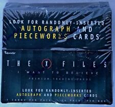 X-FILES Movie I WANT TO BELIEVE Sealed Hobby Trading Card Box - Autographs