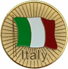 Italian Flag Golf Ball Marker with Matching Hat Clip