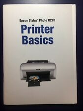 Epson Stylus Photo R220 Printer Basics Manual Owners Booklet + Setup Guide