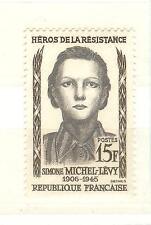 YVERT N° 1159 SIMONE MICHEL LEVY HEROS DE LA RESISTANCE TIMBRES FRANCE NEUFS **