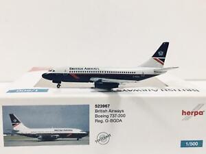 Herpa Wings British Airways Boeing 737-200 1:500 G-BGDA 523967