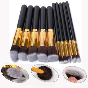 10PCS Make up Brushes Set Eye shadow Blusher Face Powder Foundation Pencil Brush