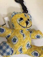 Vera Bradley Retired Rare Yellow Elizabeth Bitty Bear, Cute! With Tags