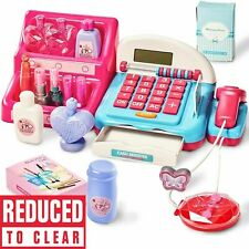 Quick-Draw Cash Register Till and Shopping Trolley Toy Set - HWA1048064
