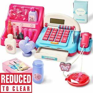Cash Register Till & Shopping Trolley Kids Role Play Toy Set Children's