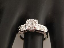 Old Mine Cut Diamond Engagement  Ring .63 tcw G/SI ART DECO 14k Estate Vintage