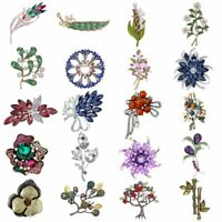 Charm Women Pearl Crystal Rhinestone Flower Brooch Pin Girl Jewelry Wedding Gift