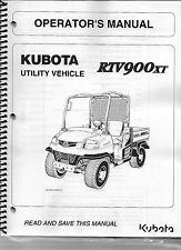 Kubota RTV900XT Utility Vehicle Operator Manual