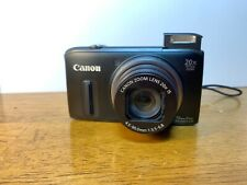 Canon PowerShot SX260HS 12.1MP Digital Camera w/2 batteries & 16GB SD card