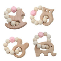 Wood Wooden Baby Beads Ring Play Toy Photography Props Baby Play Gym Toys New