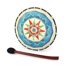 Medium Shamanic Drum Wooden Fair Trade, Hand Painted