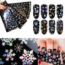 Sheet Holographic Snowflake Nail Foils Christmas Nail Art Transfer Sticker Paper