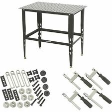 Klutch Steel Welding Table with Tool Kit - 36in.L x 24in.W x 33 1/4in.H