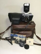 Yashica Fx-2 Film Camera with Yashica Dsb 50mm 1:1.9 mm Lens W/flash &filters