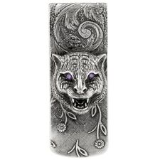 New Gucci Men s Sterling Silver Cat Money Clip YBF52341200100U 9edb56d3b37c