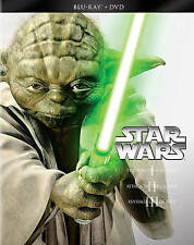 Star Wars Prequel Trilogy (Blu-ray/DVD, 2013, 6-Disc Set) 100% Authentic