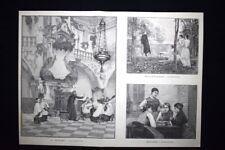 A. Dawant - Dumas - Bouchor + Minet - Surand - J. Veber Incisione del 1894